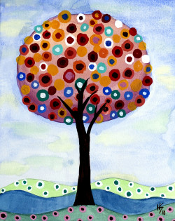 Pretty Polka Dot Tree Art