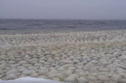 Maine Lake Experiences Snowball Waves