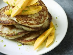 Gordon Ramsay's Coconut Pancakes with Mango and Lime Syrup