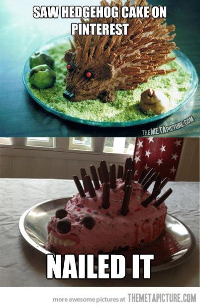 Awesome Hedgehog Cake DIY Style