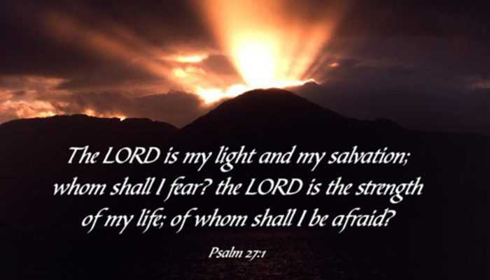 Psalm 27 The Lord Is My Light And Salvation Clattr