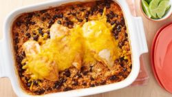 Cheesy Southwest Chicken and Rice Casserole Recipe