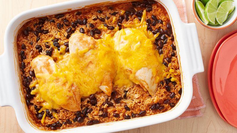 Cheesy Southwest Chicken and Rice Casserole Recipe