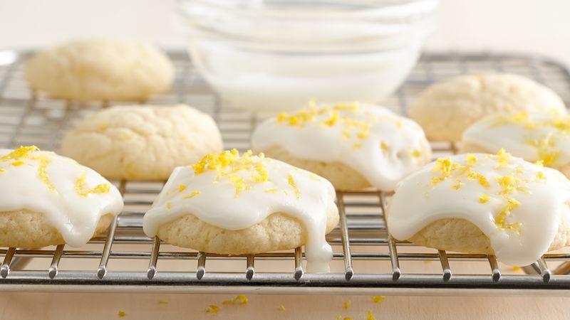 Lemon Glazed Cream Cheese Cookies