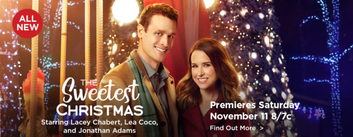 The Sweetest Christmas Starring Lacey Chabert, Lea Coco and Jonathan Adams
