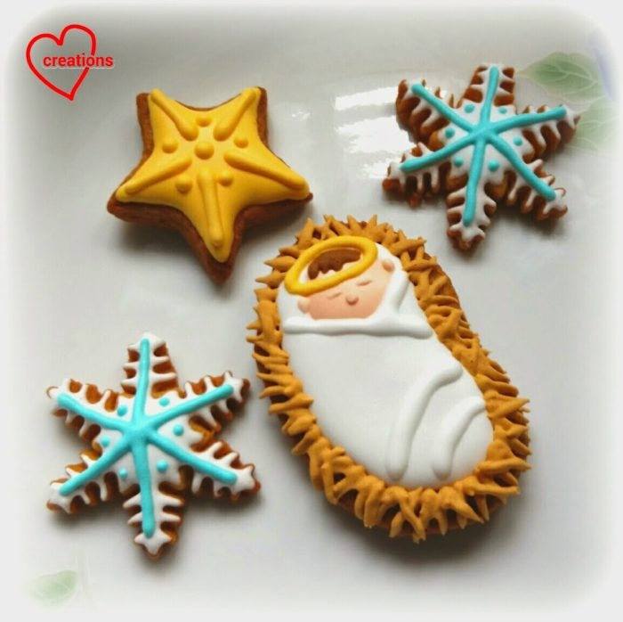 Baby Jesus, Stars and Snowflake Christmas Cookie Recipe