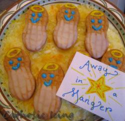 Cute Baby Jesus 'Away in a Manger' Christmas Cookies