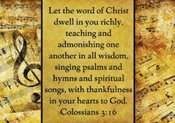 Let the word of Christ dwell in you, in all wisdom