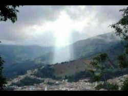 Figure Of Jesus Appears Above Colombian City After Landslide