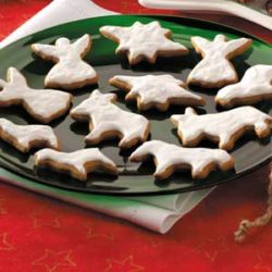 Nativity Themed Molasses Cookie Recipe