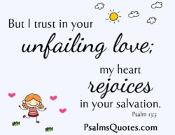 Beautiful Love Psalm: Psalm 13:5