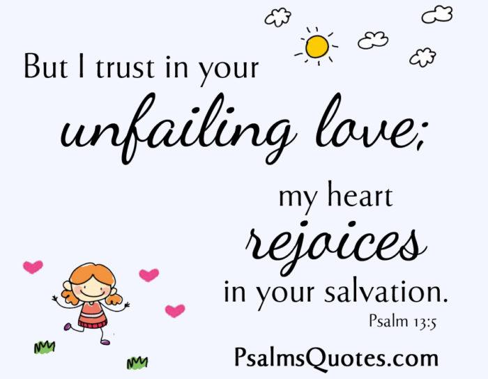 Beautiful Love Psalm: Psalm 13:5