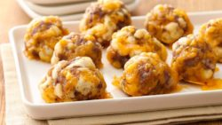 Crescent Roll Cheese Balls with Sausage
