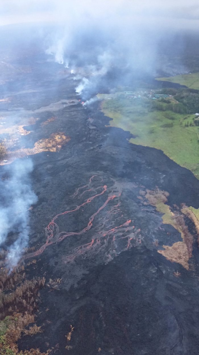 Intense Lava Eruption from Kilauea's Lower East Rift Zone