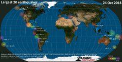 92 Earthquakes Struck Worldwide on 10/24