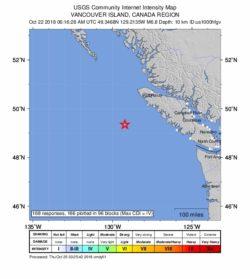 Canada Earthquake: 6.8 Rocks Vancouver Island