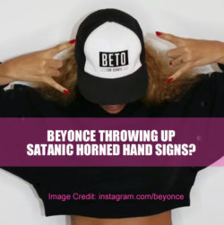 Beyonce Throws Satanic Horned Hand Signs for Election Day